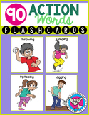 90 Action Words Flashcards