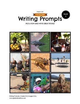 90 African Centered Writing Prompts for Grades 6-8, Images Only