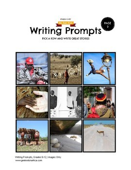 90 African Centered Writing Prompts for Grades 9-12, Images Only
