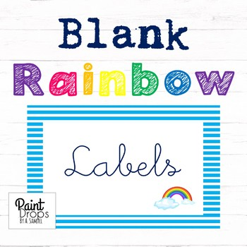 90 BLANK Rainbow Name Labels / Supply Labels / Library Labels SMALL