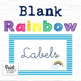 90 BLANK Rainbow Name Labels / Supply Labels / Library Lab