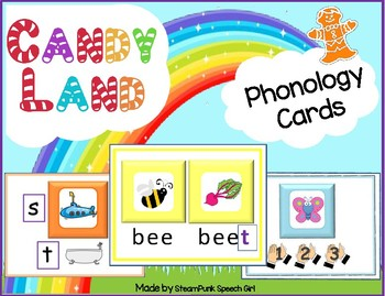90 Cards for Phonological Disorders --- for CANDYLAND BOAR
