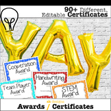 End of year 90+ Editable Different Certificates - Creative