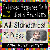 90 Extended Response Math Word Problems Bundle **ALL STANDARDS**