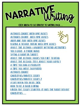 90+ First, Second and Third Grade Writing Prompts