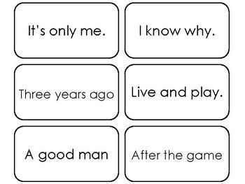 90 Fry's Sight Word Phrases Second Hundred List Flashcards. Preschool-4th Grade.