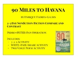 90 Miles to Havana Nonfiction Compare and Contrast (Peter Pan Operation)
