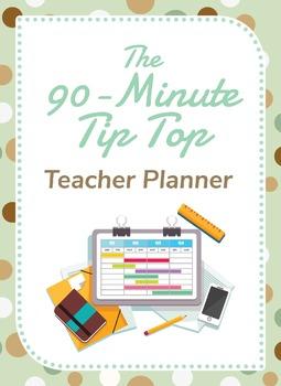 90 Minute Teacher Planner for Secondary Teachers