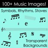 100+ Music Clip Art Images - Rhythms, Symbols, Staves! Transparent backgrounds!
