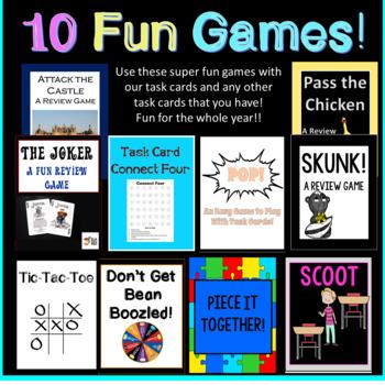 90 Prepositional Phrases Task Cards PLUS TEN FUN GAMES