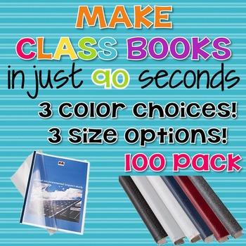 90 Second Book Creator Covers - 100 Pack {Steel Matt}