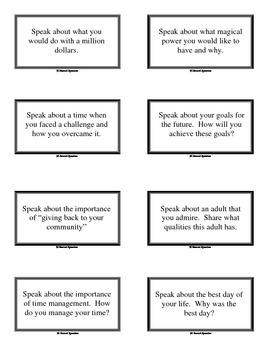 90 Second Speeches - Impromptu Speeches