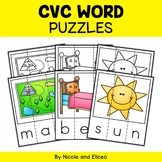 Word Work Puzzles - CVC Words