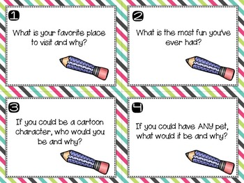 90 Short Writing Prompts on Task Cards and Labels