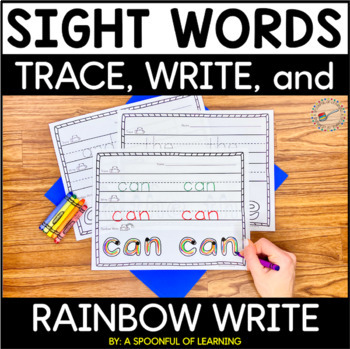 Sight Words Trace, Write, and Rainbow Write (Over 90 Sight Words!)