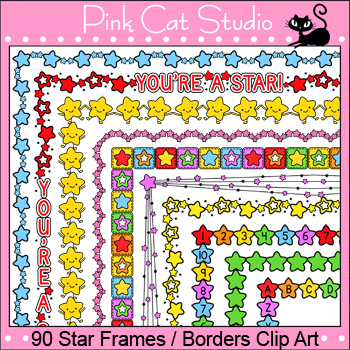 Stars Borders Clip Art - Page Borders and Frames