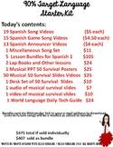 90% Target Language Starter Kit for Spanish 1