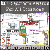 Awards~ 100+ Year Round EDITABLE Superlatives!