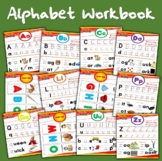 90 page alphabet writing and reading book