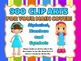 900 CLIP ARTS BUNDLE: 9 sets of the Alphabet, Numbers and Symbols