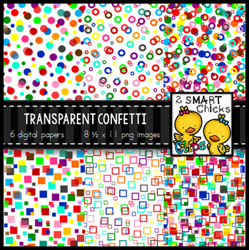 900 Follower Freebie  – Transparent Confetti Overlay Background Paper Bundle