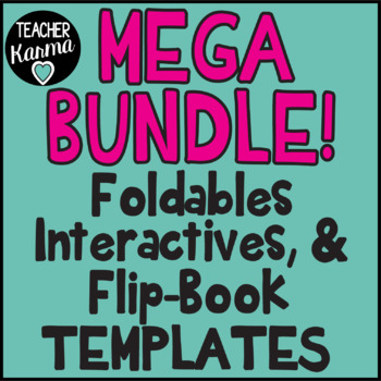 1,432 Foldables, Interactives, Flip Book Templates * GROWING BUNDLE