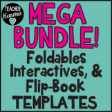 1,564 Foldables, Interactives, Flip Book Templates * GROWING BUNDLE