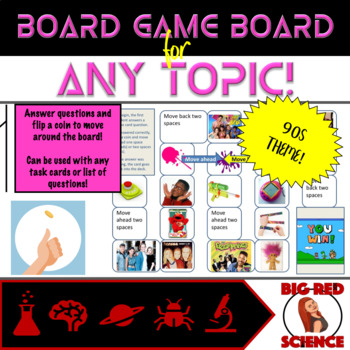 90s Theme Game Board for ANY TOPIC