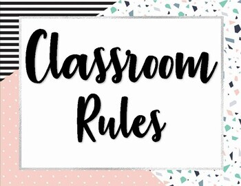 90s Themed Classroom Rules