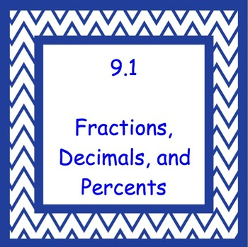 9.1 Fractions, Decimals, and Percents- Everyday Math, Grade 4