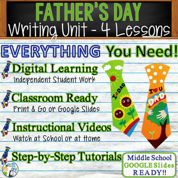Father's Day Writing BUNDLE - Argumentative, Persuasive, E