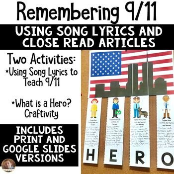 9/11 Close Read Using Lyrics- Where Were You When the World Stopped Turning?