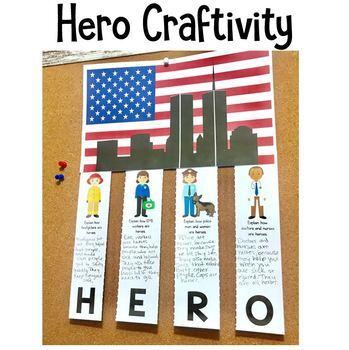 September 11 Using Song Lyrics and Hero Craftivity: A 9/11 September 11th Lesson