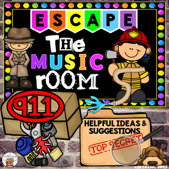 911 Help for Escape the Music Room (aka Unlock the Box and Breakout)
