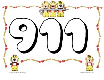 911 Coloring Page Worksheets Teaching Resources Tpt