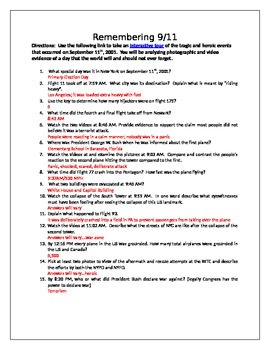 9/11: September 11th Interactive Questionare