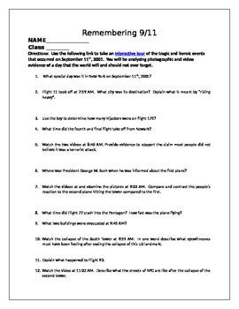 September 11th Worksheets   Teachers Pay Teachers
