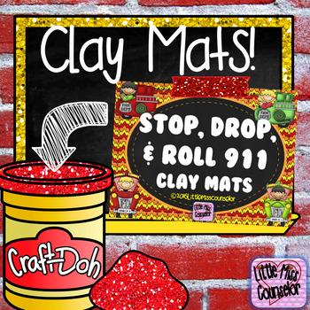 Stop, Drop, & Roll 911 Clay Mats:  Set of 6