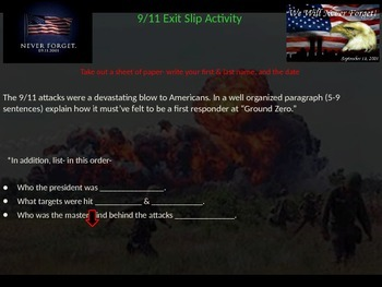 9/11/2001 & Enduring Freedom Powerpoint Lesson (With Assessment Activity)