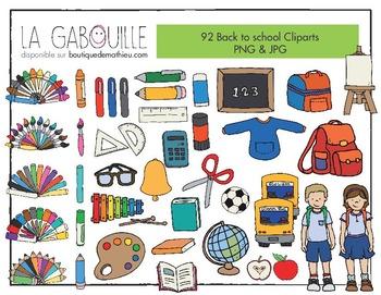 92 Cliparts – Retour à l'école (rentrée scolaire)