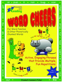 ACTIVE WORD CHEERS for Word Families & other Phonetically Chunked Words