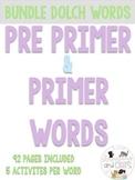 92 PAGES Kindergarten Sight Words work