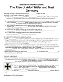 UNIT 12 LESSON 3. WWII#3: Rise of Adolf Hitler GUIDED NOTES