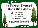 94 Forest Themed Book Bin Labels