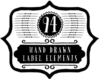 94 Hand Drawn Label Elements