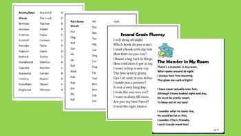95 Bundled Fluency Poems common core aligned