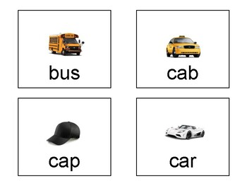 95 CVC Words with Pics for Special Education and Alabama Alternate Achievement