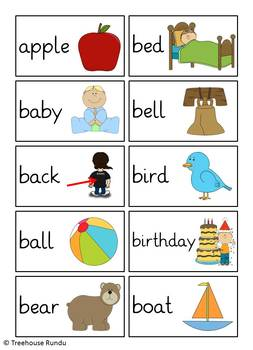 95 Nouns Flashcards - Picture and Words Flashcards