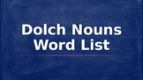 95 Dolch Nouns with Pictures in PowerPoint