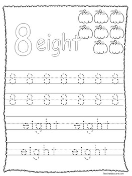 95 Fall themed Alphabet and Numbers No Prep Worksheets